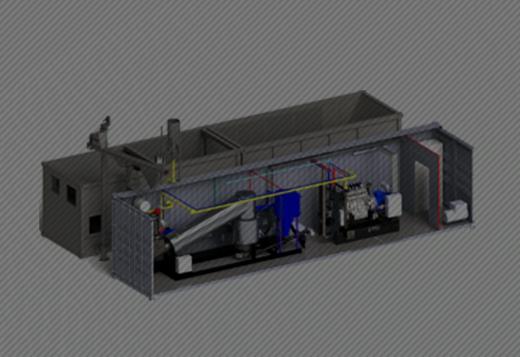 木質ガス化発電装置